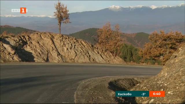 Усилено се изгражда пътят от Струмяни до бъдещия граничен пункт Клепало