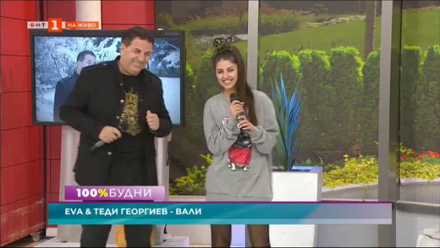 Младата певица Ева и нейният баща и мениджър Теди Георгиев
