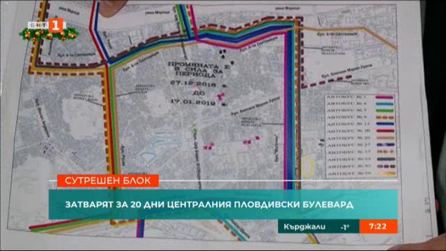 Затварят за 20 дни централен пловдивски булевард