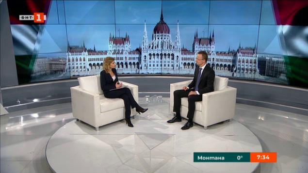 Външният министър на Унгария в специално интервю за БНТ