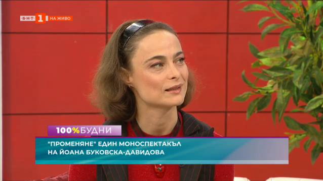 Променяне - първият моноспектакъл на Йоана Буковска-Давидова