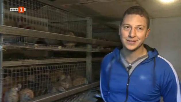 Иван Тинков и фермата му за пъдпъдъци и зайци