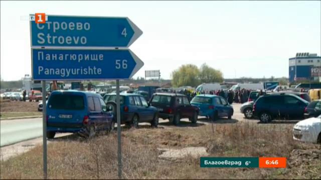 Изграждат кръгово кръстовище на пътя Пловдив-Карлово