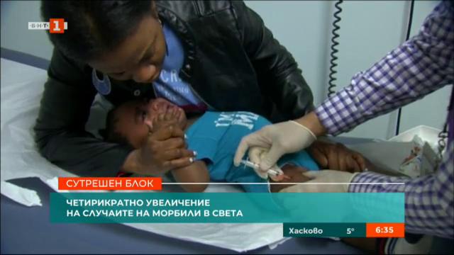 Четирикратно увеличение на случаите на морбили в света