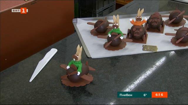 Шоколадови зайци за Великден в Брюксел