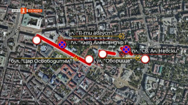 Засилена е охраната в центъра на София заради военния парад