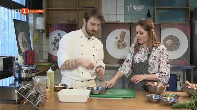 Рецепта до 10 лева с шеф Виктор Жечев – качамак с пилешко месо