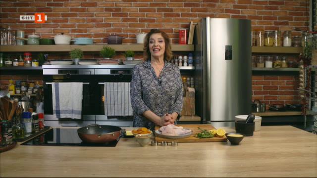 Кус-кус с пиле, ядки и сушени плодове и сурово брауни с ядки и малини