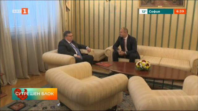 Срещата на главния прокурор Цацаров с президента Радев