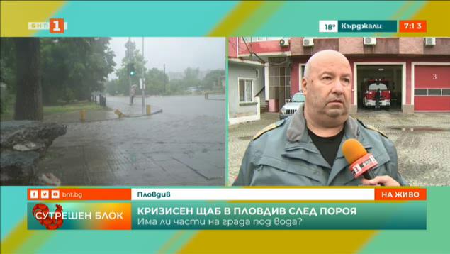Извънреден кризисен щаб в Пловдив заради пороите