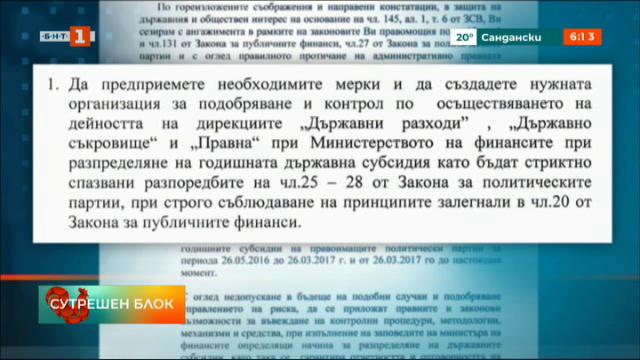 Прокуратурата намери нарушения в определянето на партийните субсидии