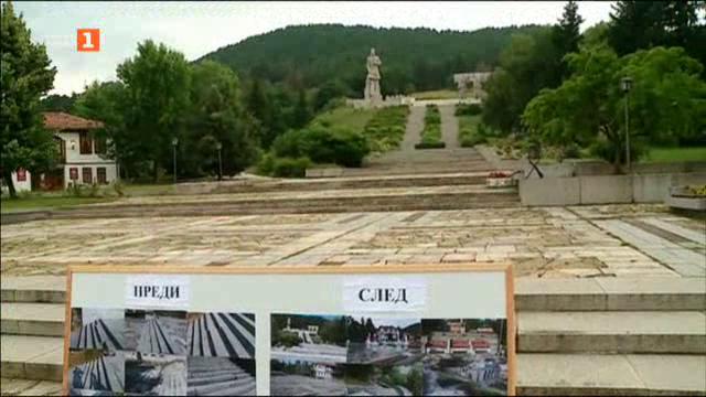 Ремонтът на мемориален комплекс Христо Ботев в Калофер