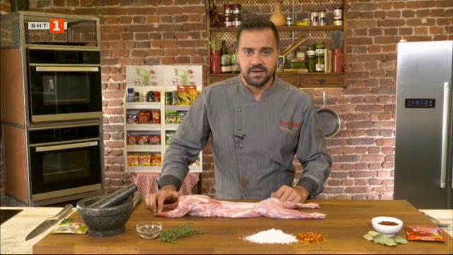Консервиране на заешко месо и приготвяне на сос Рабията