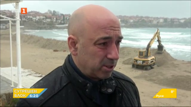 Премахнаха пясъчната дига на плажа в Созопол