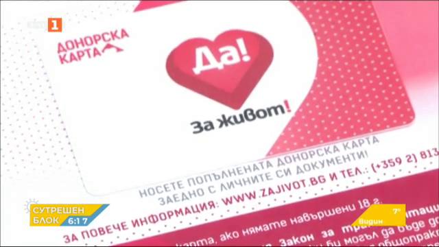 В Добрич са раздадени близо 2000 донорски карти