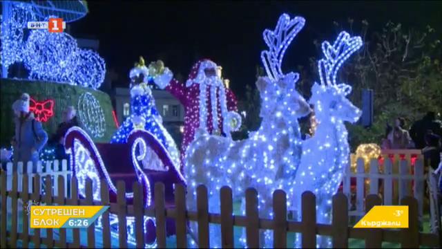 Коледни елхи в Пловдив и Русе