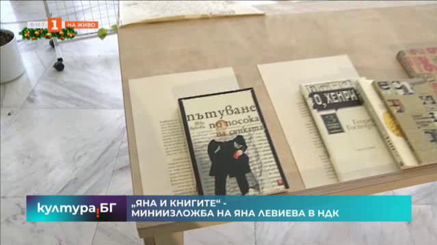 Яна и книгите - миниизложба на Яна Левиева
