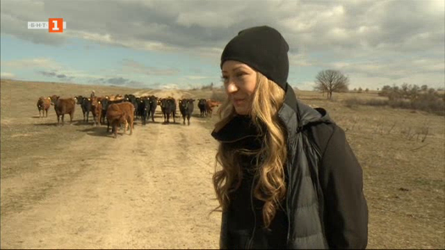 Млада жена-фермер с малко стадо, но големи мечти