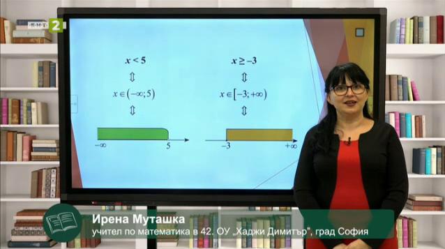 МАТЕМАТИКА 7.клас: Представяне на решенията на линейно неравенство