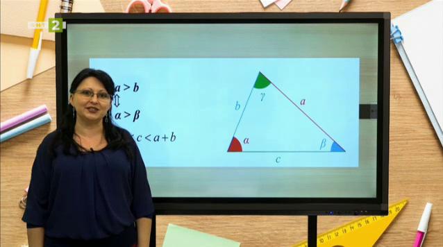 Математика 7. клас: Неравенства между страни и ъгли в триъгълника
