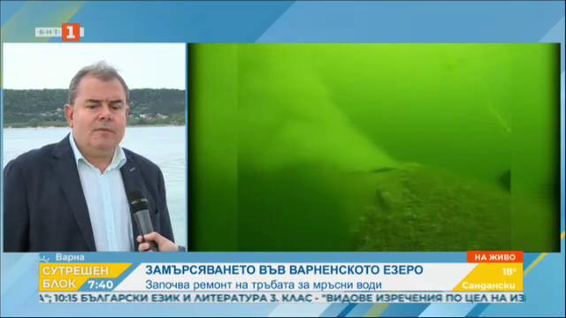Замърсяването във Варненското езеро - започва ремонт на тръбопровода