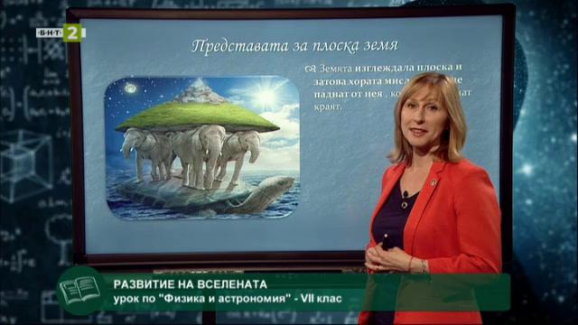 """Физика и астрономия 7. клас: """"Развитие на вселената"""""""