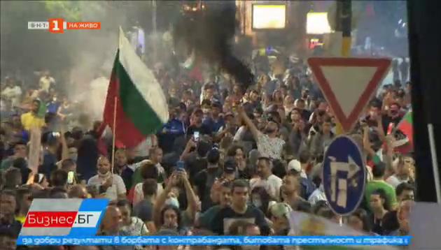 Кадри от протестите в София