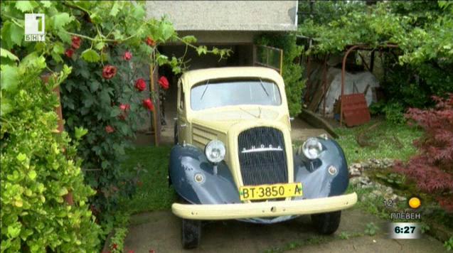 """За 30 години лясковчанин възстанови уникална 80-годишна """"Шкода Супърб"""""""