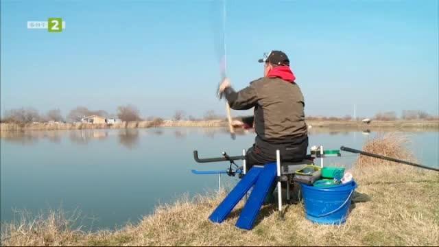 Зимната подготовка на състезатели по фидер риболов от Пловдив