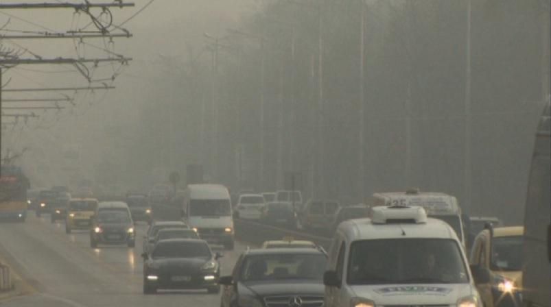 Buffer parking in Sofia today is free of charge due to air pollution