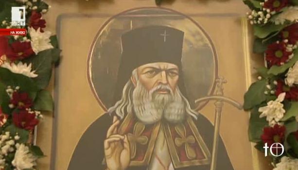 Посрещане на мощите на Св. Лука Симферополски в София