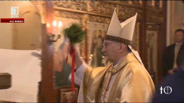 Тържественото освещаване на катедралния храм на българските католици от източен обред