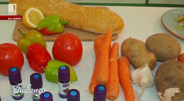 Здраве и настроение в храненето с етерични масла
