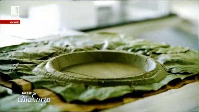 Биоразградими чинии от листа