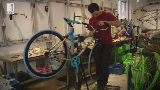 Велосипед от бамбук