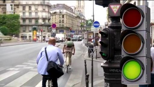 Зелена вълна за велосипедистите в Париж