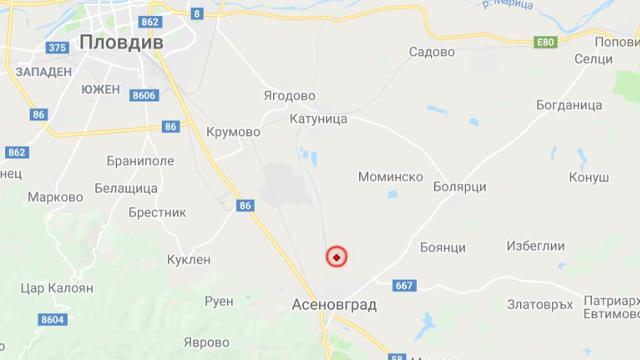 Земетресение с магнитут 4.6 по Рихтер близо до Асеновград тази нощ