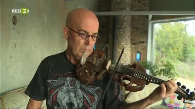 Джеф Стратън - майстор на нестандартни цигулки