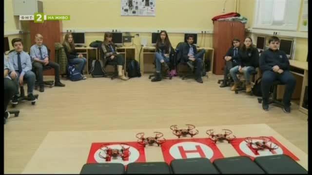 Деца се обучават да програмират дронове